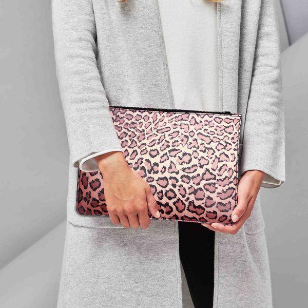 Trendy Fashion Women's Handbag Brand Badiya Designers 3D Printings Leopard Zipper Pouch Clutch Daily Ladies Purses and Handbag