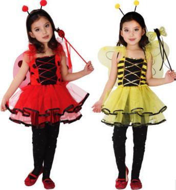 Cadılar Bayramı çocuk kostümleri için çocuk kostümleri Küçük arı Kelebek karikatür bebek dans kıyafetleri