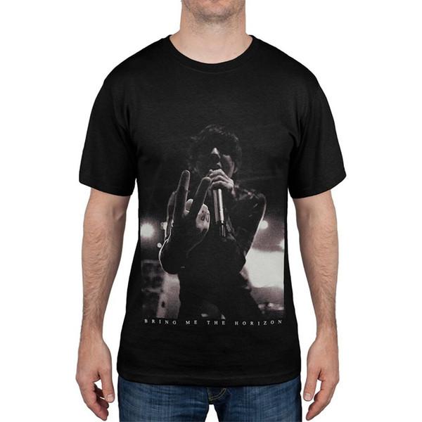 New Fashion Short-Sleeve T Shirts Crew Neck Bring Me The Horizon Smoolie Soft T-Shirt Short Design T Shirts For Men
