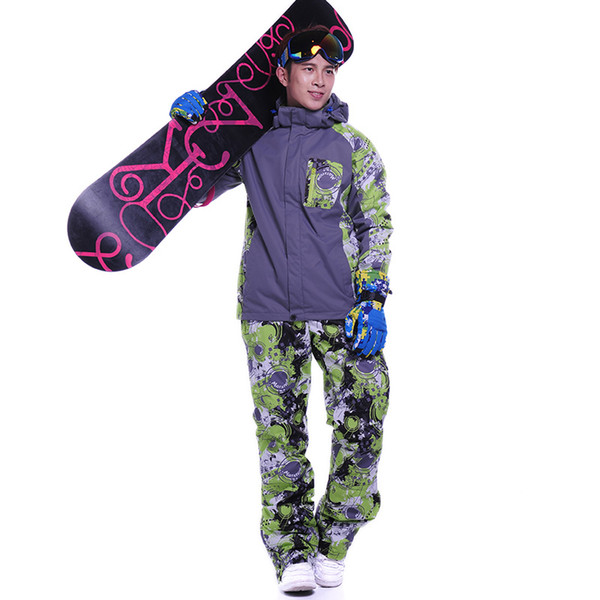 Snowboard jacket and pants Thickening Warm Tracksuits Hoodies+Pants Clothing Sets Sportswear Warm sport winter suit men