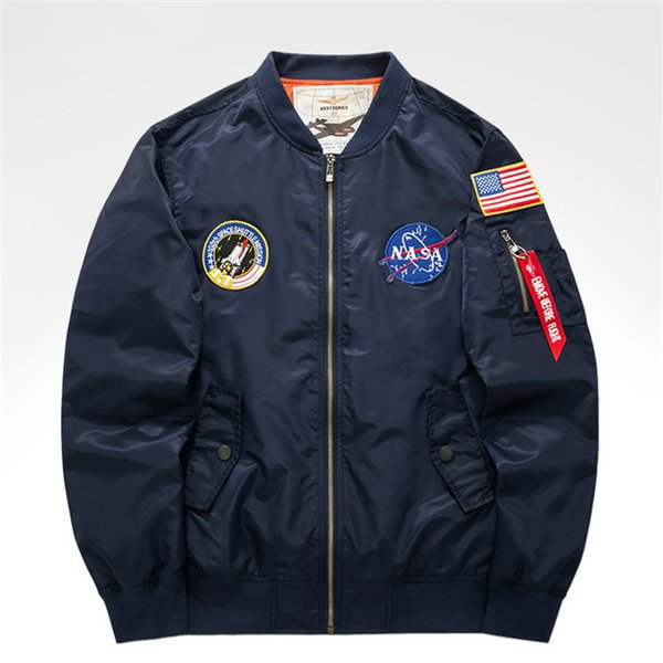 2018 New Fashion Casual Man Sport Zipper Long Sleeve Stand Collar Plus Size New Arrivals Jacket Windbreaker Men's Flight Suit Mens Jacket