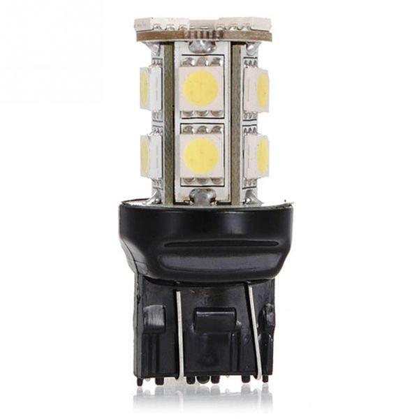 DC12V T20 W21 / 5 W 7443 13 SMD 5050 LED Saf Beyaz Araba Oto Işık Kaynağı Fren Park Ters Lambası Ampul Gündüz Farları