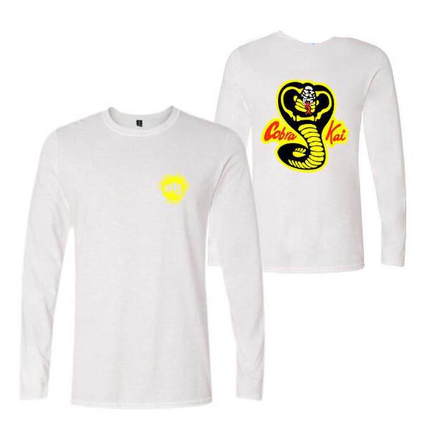 TV Cobra Kai T-shirts Hombres de la venta caliente de impresión de manga larga T-shirt Hombres de moda Lovely camisetas cálidas camisetas de otoño y Tee