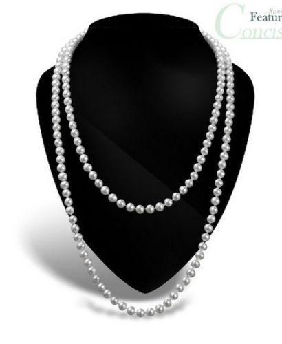 New 8-9mm light silver Cultured Freshwater Pearl Necklace 48 Inch