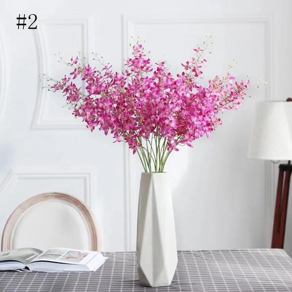 Compre Flor Falsa Altamente Silmulada Cattleya Orquídea Elegante Jarrón Grande Florero Artificial Casa Comercial Espacio Decoración A 232 Del