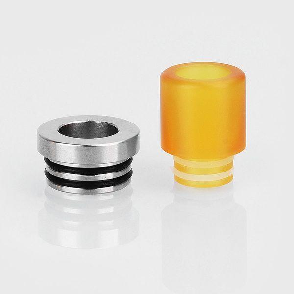 Vapeasy Stainless Steel 810 to 510 Drip Tip Adapter + PEI 510 Drip Tip Mouthpiece Kit for RDA / RTA / RDTA Vape Atomizer