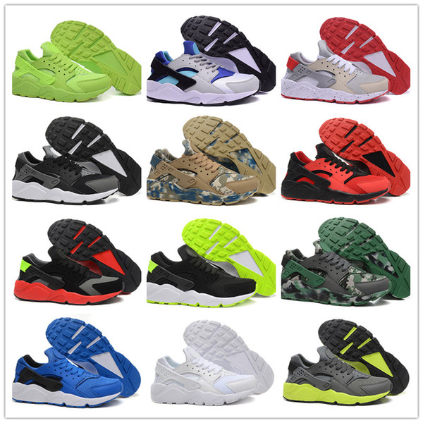 new collection website for discount new lower prices Compre Nike Air Huarache Shoes 2019 New Air Max Huaraches Classical Triple  White Black Red Gold Hombres Huarache Zapatos Para Air Huaraches Zapatillas  ...