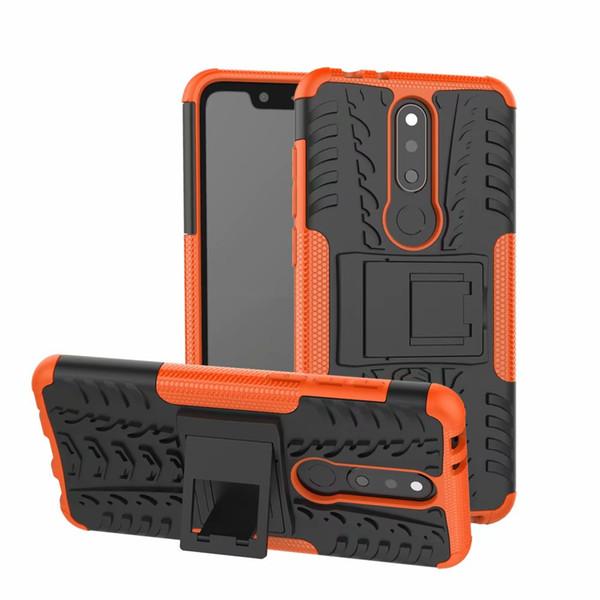Para Nokia X5 Funda Colorida Robusta Combinada Híbrida Armadura Soporte Funda protectora Funda protectora para Nokia X5