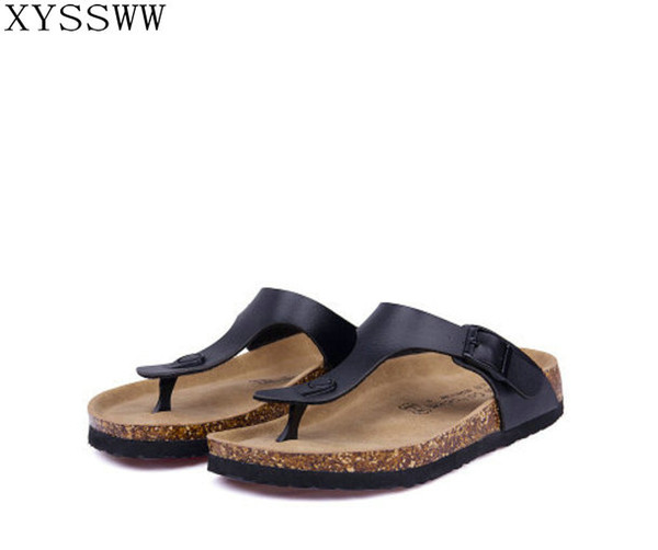 23 color New 2018 summer women flats sandals Cork slippers unisex casual shoes print mixed colors flip flop free shipping