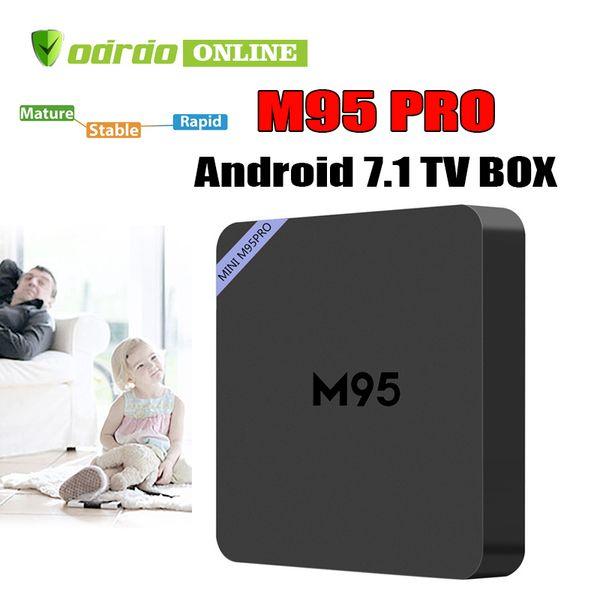 Factory Sale M95 PRO New MXQ Pro 4K Smart Android 7.1 TV Box Rockchip RK3229 Quad Core Google Set Top Box Media Player by DHL