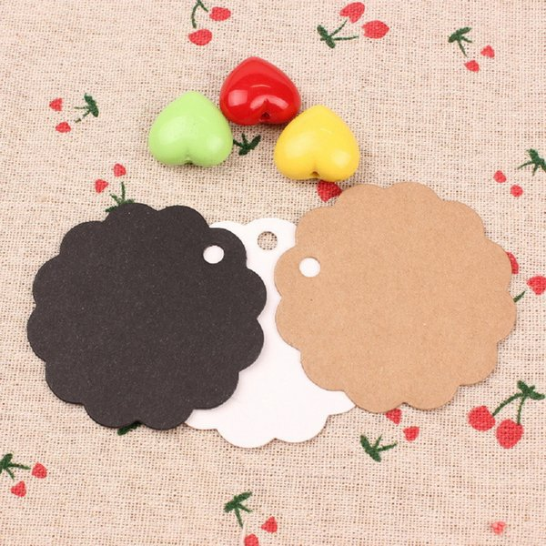 Retro 100pcs/set Kraft Paper Card / Blank Tag / Wedding Favour Gift Tag Price Label for DIY or Decoration 3Color
