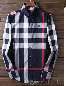 2018 Brand Men's Business Casual shirt mens long sleeve striped slim fit camisa masculina social male shirts new fashion shirt#002
