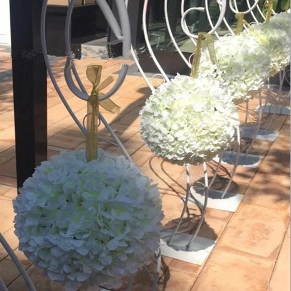 20cm to 40 CM Elegant Hydrangea Flower Ball Hang Kissing Balls Ornament for Wedding Event and Shopping Malls Opened Decor