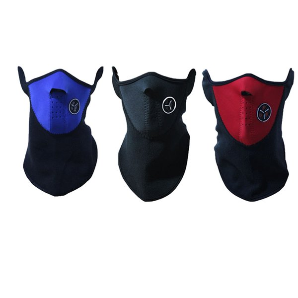 2pc/set Warm Fleece Face Mask Half Face Protection For Winter Outdoor Sport Cycling Ski Warm Neck Scarf Windproof