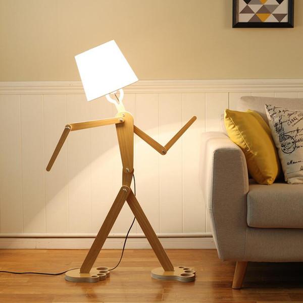 Grosshandel Led Stehlampe 5w Moderne Stehende Holz Licht Fur