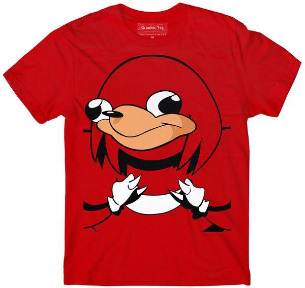 Ugandan Knuckles T-Shirt, Knöchel bis, Meme T-Shirt, kennen Sie die Art und Weise T-Shirt Cartoon Print Kurzarm T Shirt Kostenloser Versand