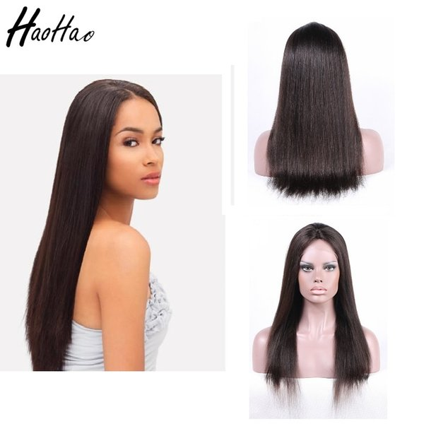 8A Human Hair Wig Lace Wig Human Hair Wigs For Black Women Silky Straight Body Wave Glueless Customized Free Shipping