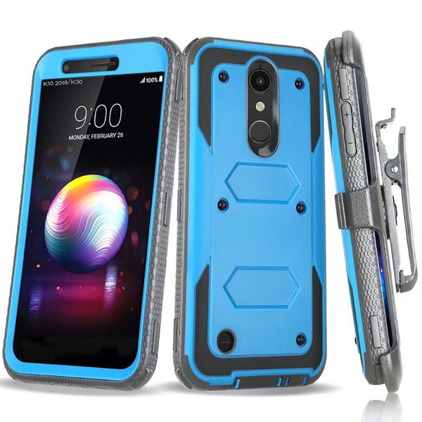 Hybrid Armor Case For LG Stylo 4 MetroPCS For Samsung J3 2018 J337 MetroPcs  Heavy Holster Combo Shockproof With Belt Clip B Waterproof Cell Phone