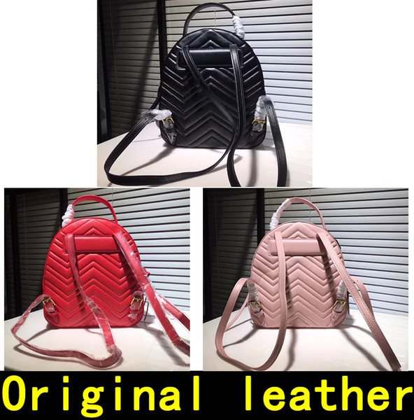 Marmont Backpack Designer Backpack high quality Luxury Handbags Famous Brands bags Real Original Cowhide Genuine Leather Luxury Backpack