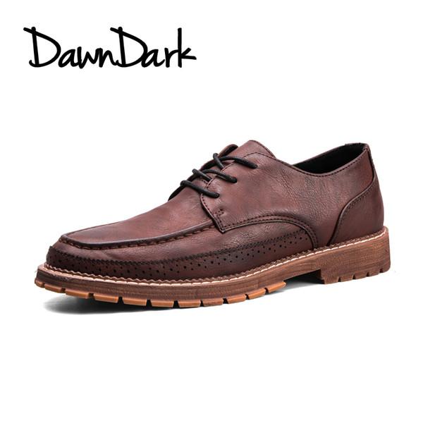 Zapatos de hombre Zapatos de cuero con cordones planos Zapatos oxfords de hombre Zapatos deportivos de tacón bajo Zapatos de hombre de verano con cuero genuino