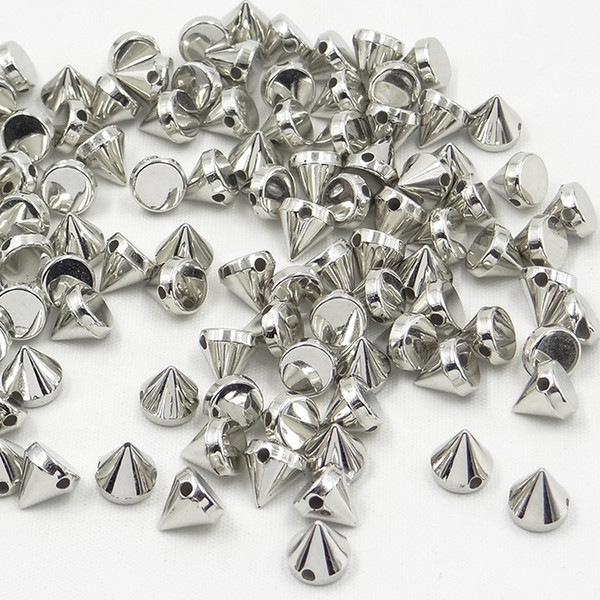 JUNAO 8mm Silver Color Studs and Spikes Sewing Punk Rivet For Leather Clothing Decorative Accessories 500pcs