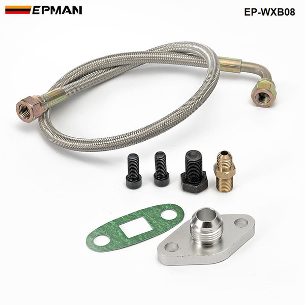 best selling EPMAN - Oil Feed Line Kit Flange Single Turbo For Toyota Supra 1JZGTE 2JZGTE 1JZ 2JZ EP-WXB08