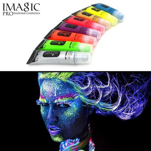 IMAGIC neon UV light face and body painting body painting paint fluorescent paint Carnival painted 8 color