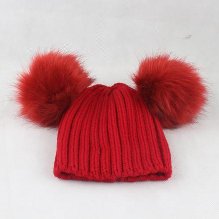 wine red hat red fur one free size