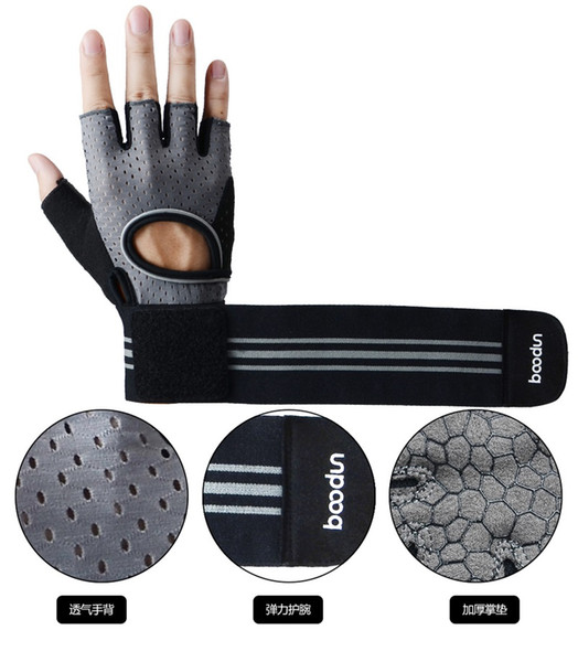 Upgrade The Wrist Fitness Gloves Breathable Butterfly Net Sports Adult Glove Semi Finger Summer Camping Equinment Mittens 37 5fb ii