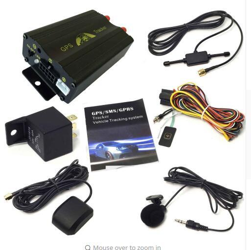 Multifunction Realtime Vehicle Car GPS/GSM/GPRS Tracking System Kits Quad Band SD Move Alarm Anti-theft GPS Tracker TK103A