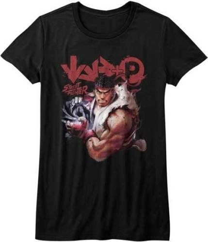 Street Fighter Capcom Video Game Ryu Fight Move Womans Fitted T Shirt Cotton Casual Funny Shirt