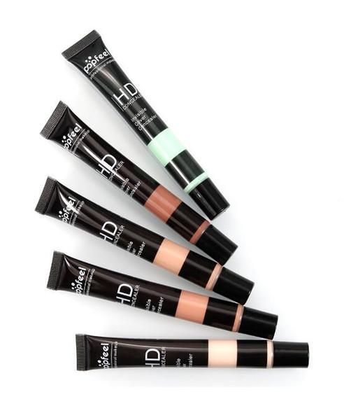 Free DHL Hot sale Popfeel Concealer Invisible Cover Primer Concealer Cream Face Eye Make Foundation Contour Palette 5 Colors