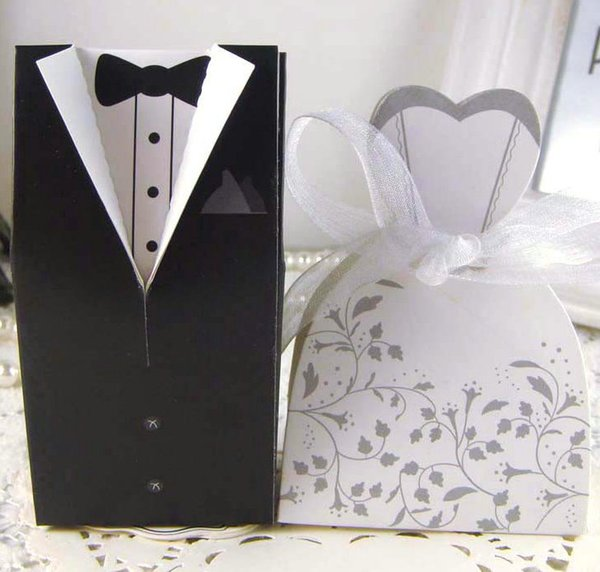 100pcs /50pairs Floral bride and groom box wedding boxes favour jewelry boxes gift box