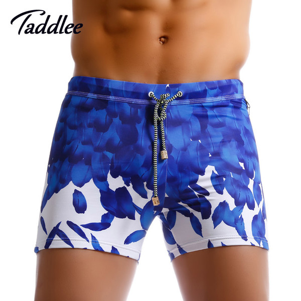 Taddlee  Sexy Swimming Boxer for Men Swimwear Swimsuits Board Surfing Beach Shorts Trunks Gay Penis Pouch Pad Front Enhance