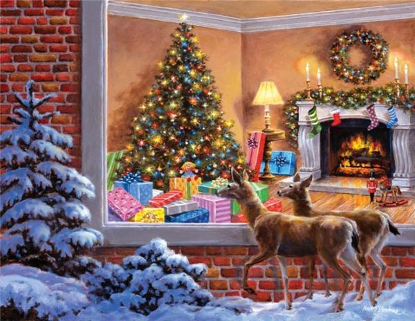 Diamante bordado animal ciervos de la navidad diy diamante pintura punto de cruz kit de resina redonda completa mosaico de diamantes decoración del hogar regalo yx1893