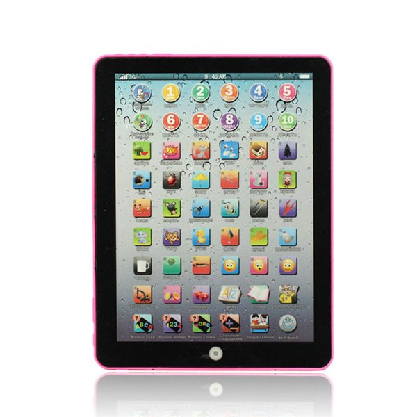 1PC Pink Blue Russian Computer Learning Machines Tool notebook computador Education Machine Tablet Toy Gift For Kids girls boys
