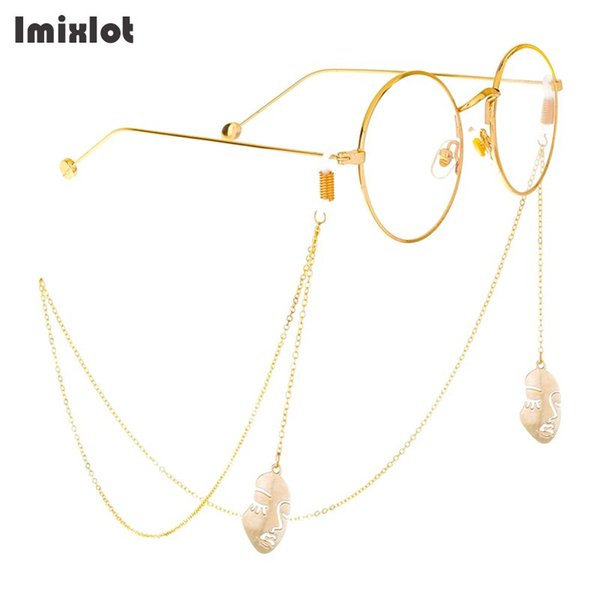 Imixlot Pendant Glass Chain Sunglasses Lanyard Strap Necklace Metal Eyeglass Glasses Chain Cord For Reading Glasses