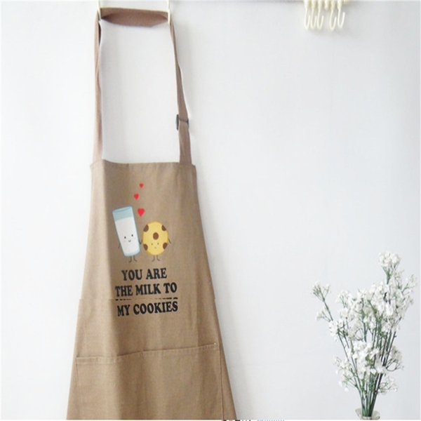 Waterproof oilproof apron kitchen household cooking Korean version of fashionable adult bib work clothes