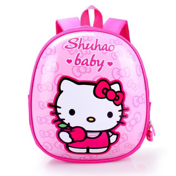 d138a62434 Kids Bag For Girls Cute Cartoon Hello Kitty School Bags Waterproof  Orthopedic Backpack Children Kindergarten Preschool Backpacks