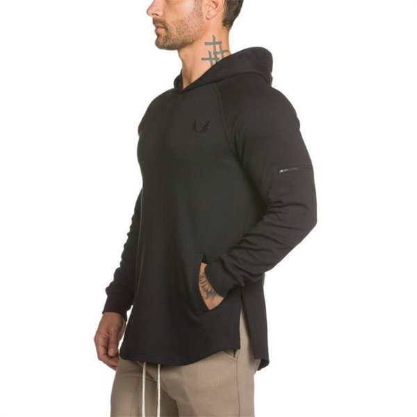 Mens Gym Hoodie Singlets Sweatshirts Mens hoodies Stringer Workout Bodybuilding Fitness Men's hoodies Casual