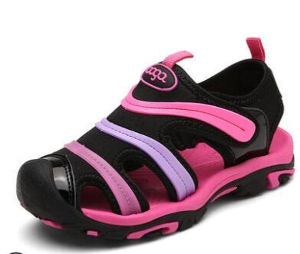 Insole Length 15-23 CM 6-13 Years Fashion New Children's Girl Sandals Boy Baotou Soft Summer Kids Caterpillar Shoes