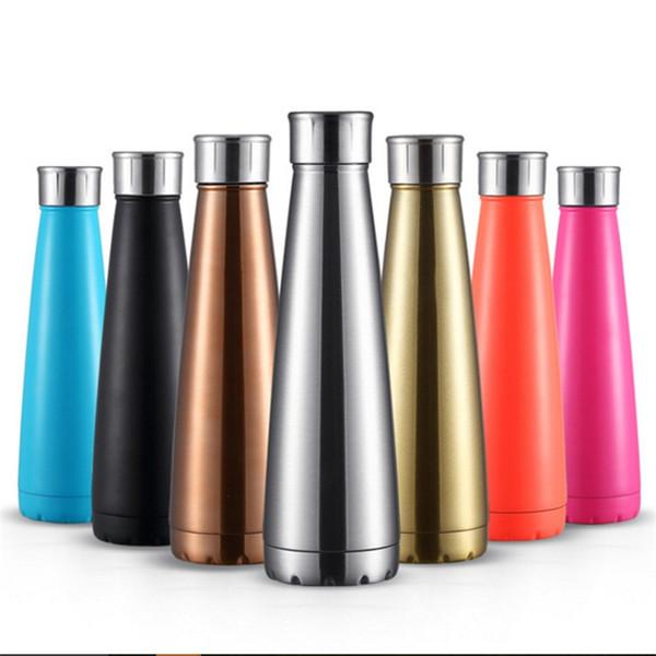 Mode Vakuum Tasse Edelstahl Doppelwandige Wasserflasche Neue Hohe Kapazität Im Freien Bewegung Wasserkocher Hohe Qualität 20yt Ww