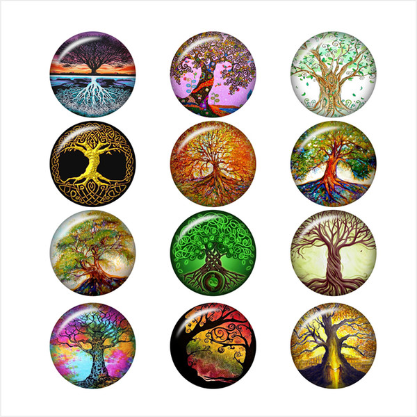 tree of life glass snap button jewelry photo print Phone Holder DA1021