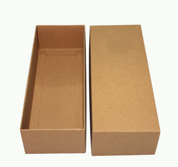 Drawer kraft paper boxes High-end gift boxes Printable logo Towels decorative boxes25*9.5*6cm