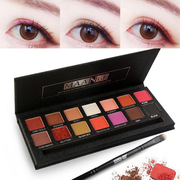 14 Color Eye Shadow Shimmer Glitter Powder Matt Eyeshadow Cosmetic Makeup Profesional Cosmetics Tool Make Up Set