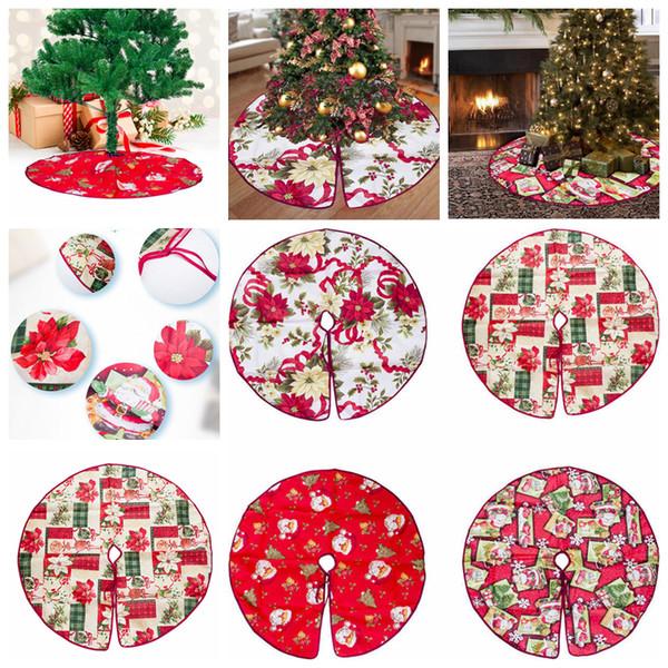 4styles Arbres De Noël Jupes Décor Tablier Père Noël Rond Arbre De Noël Jupe Fête De Noël Fournitures Maison Ornements Revêtement De Sol FFA1283