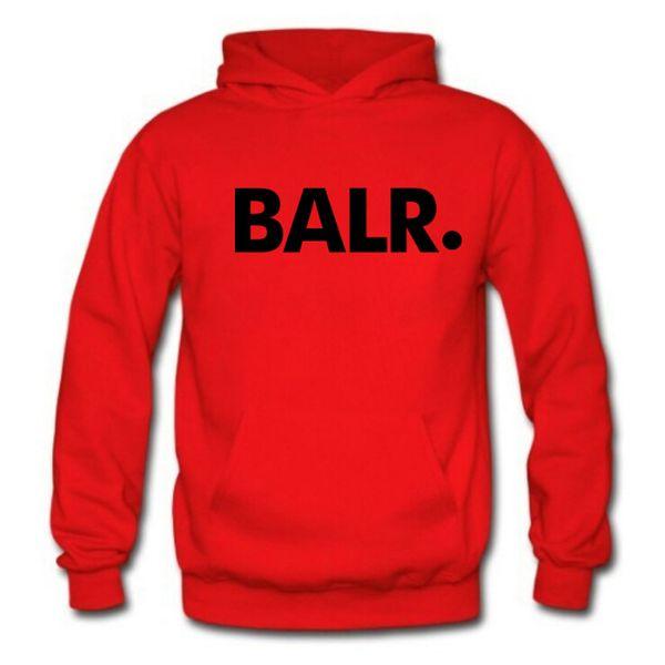 Men BALR Printed Fleece Hoodies Spring Autumn Winter Long Sleeved Hooded Tops Casual Hip Pop Pullover Mens Sportswear Sweatshirt