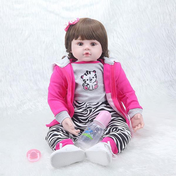 Venta al por mayor- NPKCOLLECTION22inch 55cm popular simulación bebé recién nacido con ropa linda mejor regalo de Navidad muñecas de bebé renacidas de silicona