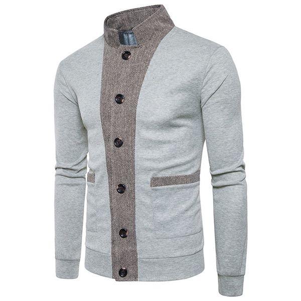 Warm Sweatecoat Men Knit Knitwear Big Boy chaqueta de lana estándar abrigos Slim Fit botón Cardigan Sweater para Teenager566
