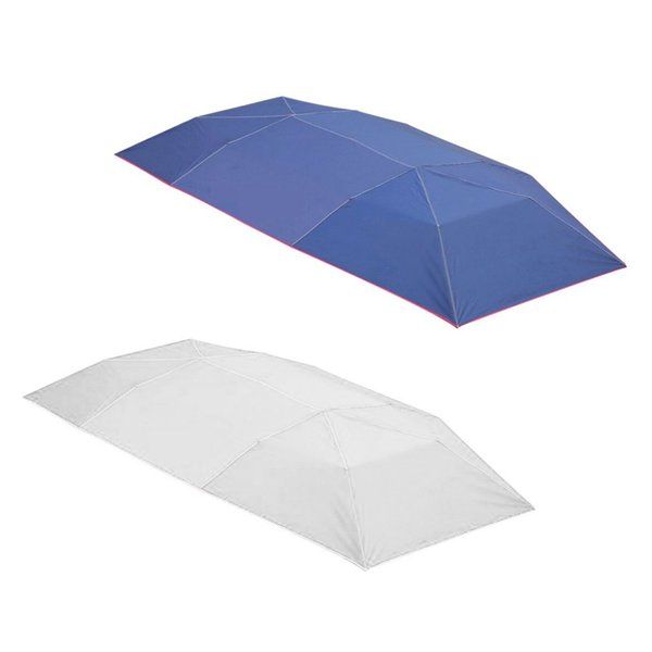 Half Automatic AwningTent Car Cover Outdoor Waterproof Folded Portable Car Canopy Cover Anti-UV Sun Shelter Roof Tent